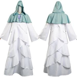 Anime The Promised Neverland Yakusoku no Neverland Mujika Cosplay Costume Long Robe Cloak  Dress Outfit Halloween Carnival Suit