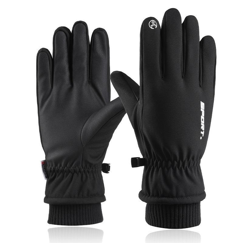 Зимние уличные велосипедные спортивные зимние лыжные теплые перчатки мужские сенсорный Экран Non-Slip ветрозащитные непромокаемые перчатки