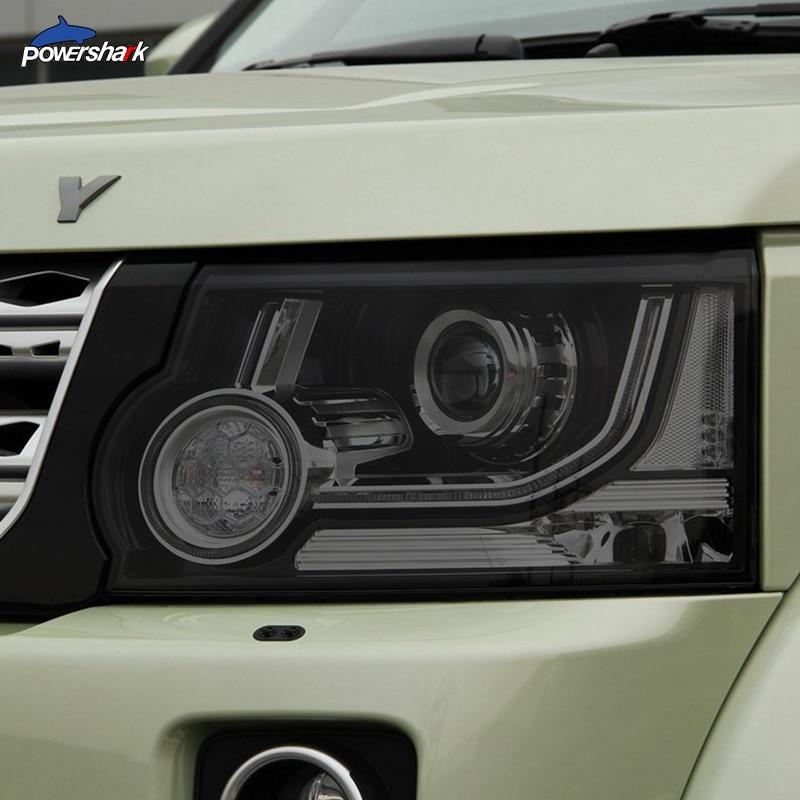 سيارة مصباح أمامي ملون المدخن الأسود طبقة رقيقة واقية شفافة بولي Sticker ملصق لاند روفر ديسكفري 4 LR4 2009-2016 اكسسوارات