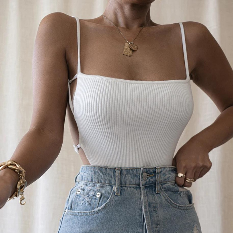 Sleeveless Bandage Sexy Backless Crop Tops for Women Solid Cropped Feminino Straps Camis Vest Top Streetwear топ sexy camis for women camisas tsv003758
