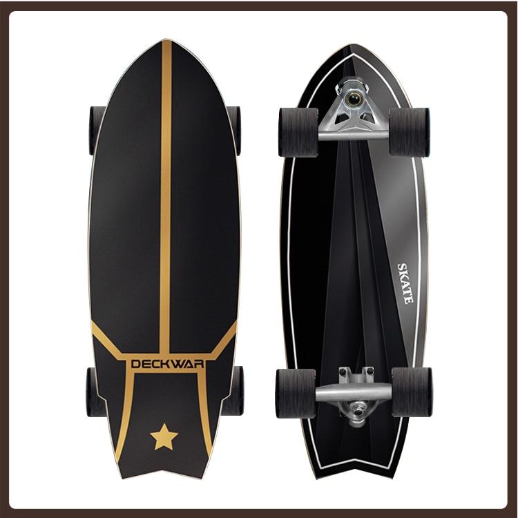 4 Wheel Long Board Skateboard Deck Wood Complete Professional Skateboard Wood Complete Fashion Planche De Skate Sports Equipment