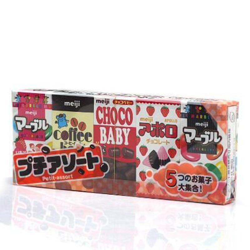 Japanese Baby Kids snack meji chocolate 1set include small 5pcs