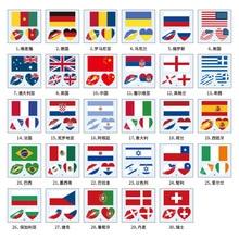 60X60mm Flag Temporary Tattoo Sticker Football World Cup Lips Tattoo Stickers Face Stickers  Fake Tattoo Tatoo Tatto Tato Henna