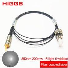 850nm 200mw IR fibre infrarouge couplé module laser infrarouge diode couplage accessoires lumière invisible Multi ou mode unique