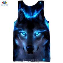 SONSPEE 3D Print Cool Wolf Men's Tank Tops Casual Fashion Vest Men Summer Streetwear Plus Size High Quality Sleeveless Shirt
