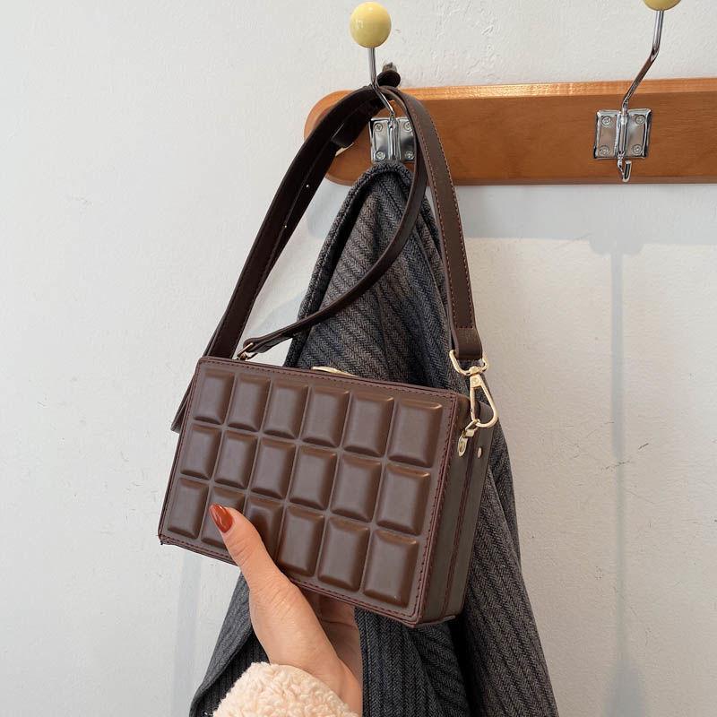 Shoulder Bags Women Bag Crossbody Bags for Women Handbag  Purse Fashion 2021 New Chocolate Retro Des
