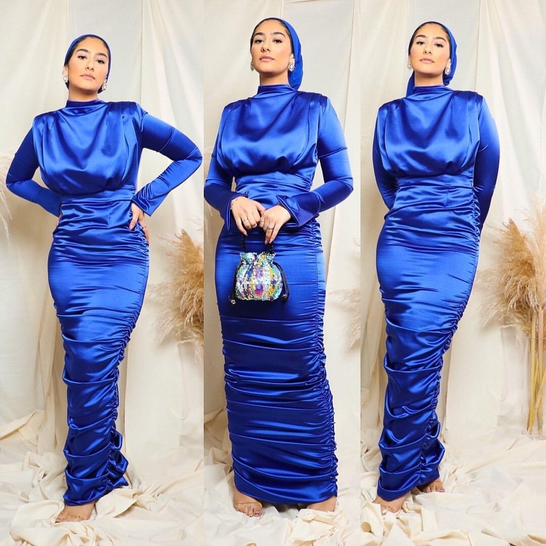 عبايات رمضانية للحجاب فستان ستان موضة إسلامية للنساء دبي عباية تركيا قفطان ملابس إسلامية De Moda Musulmana
