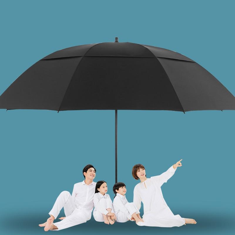 182cm Big Sunshade Umbrella Double Folded Large Beach Umbrella Windproof Terraza Strong Sombrillas Para Lluvia Y Sol Rain Gear enlarge