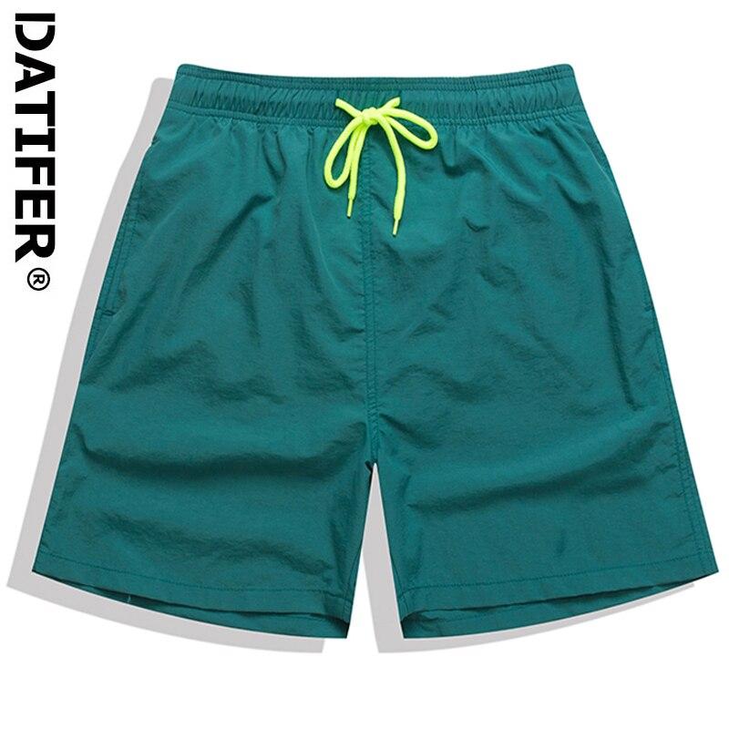 Datifer Brand Men Swimsuit 2021 Swimming Trunks Jogging Shorts Beach Surfing Boardshort Plus Size Bermudas ES5S