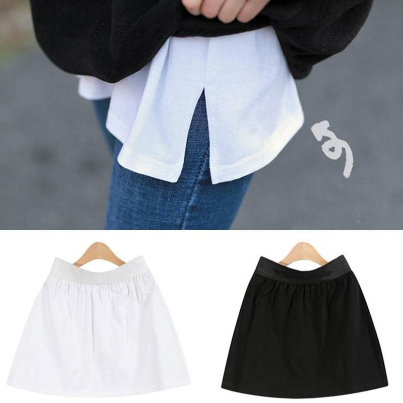 Adjustable Layering Fake Top Mini Skirt Shirt Extender Fashion Half Extended Women Accessories Adjustable Layering Fake Top