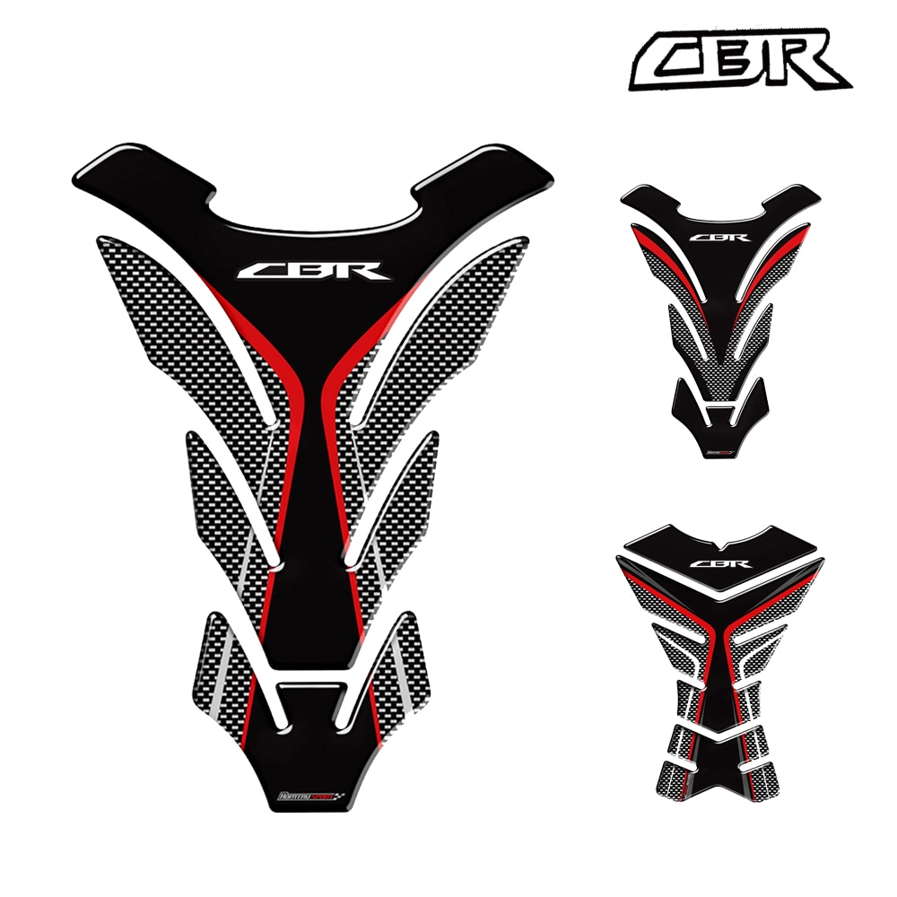 Motorcycle Carbon Fiber Protection Sticker Fuel Tank Pad For Honda CBR 250RR 600RR 900RR 1000RR 650F 500R3D