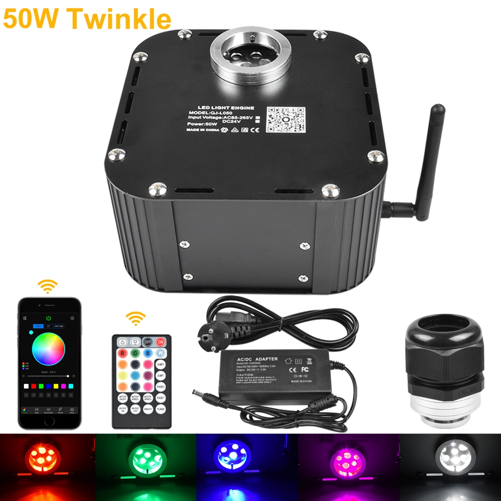 DC24V 50W Twinkle Bluetooth App Control RGBW LED Light Source Starry Sky Ceiling Indoor Decoration