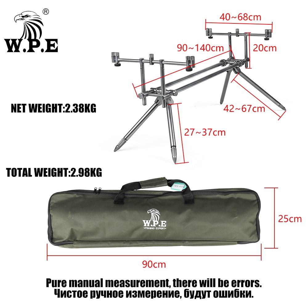 W.P.E Carp Fishing Rod Pod Holder Adjustable Retractable Fish Pole Telescopic Folding Stand Bracket Fishing Accessories Tackle enlarge