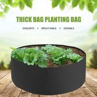 30/40 Gallon Black Garden Plant Grow Bag Vegetable Flower Pot Planter DIY Folded Potato Garden Pot Plant Eco-Friendly Grow Bag