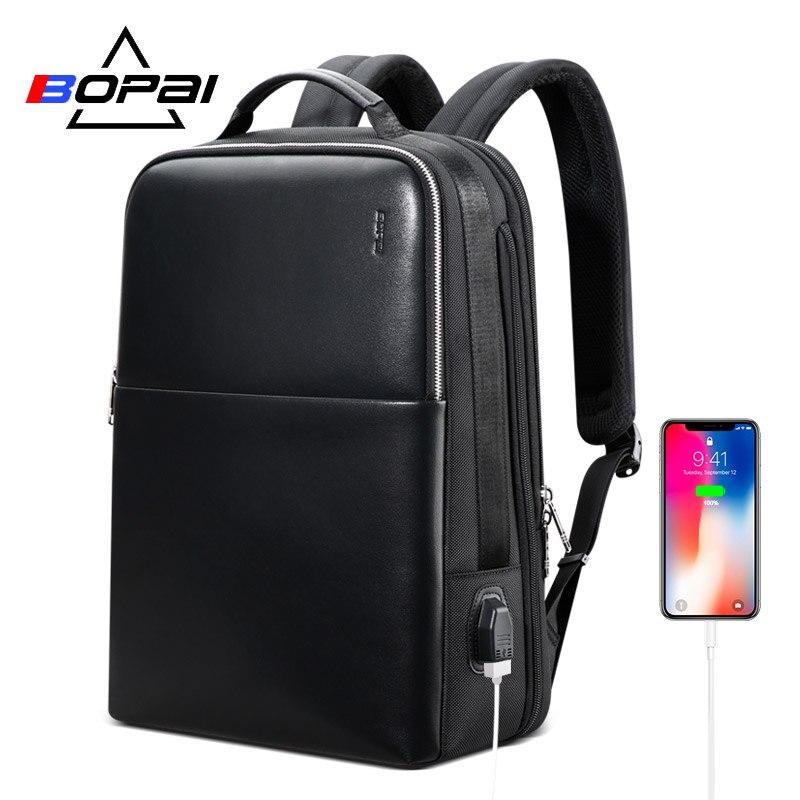 BOPAI Brand Laptop Backpack Anti-theft Backpack Men 15 Inch Microfiber Shoulders Travel Laptop School Bag Backpack Waterproof 17 inch laptop backpack casual shoulders bag for teenage men backpack school bags waterproof backpack travel suitcase 17 3 inch