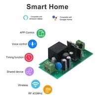 Tuya WiFi commutateur intelligent 10A 2200W RF 433MHz minuterie APP controle universel intelligent maison commande vocale pour Amazon Alexa Google Home