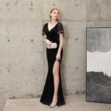 Robe de soirée col en V sirène robe formelle femmes élégant robe de soirée femmes robe Occasion spéciale robes de soirée pour les femmes 2020