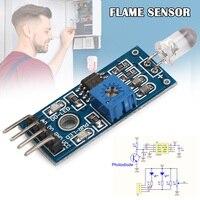 10pcs IR Infrared Flame Detection Fire Detector Sensor Module Durable VDX99