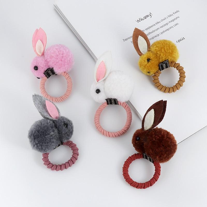 Ljubek prstan iz živalske dlake s kroglico in zajcem, ženski - Oblačilni dodatki - Fotografija 6