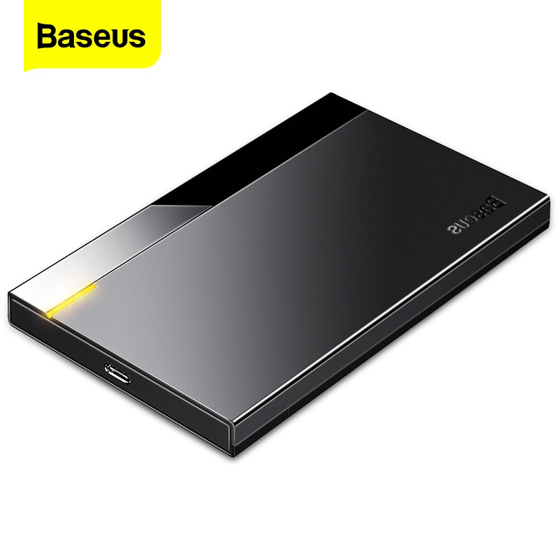Baseus HDD чехол 2,5 SATA к USB 3,0 Тип C 3,1 адаптер HDD корпус внешний жесткий диск чехол 6 ТБ HD Жесткий диск SSD HDD коробка Caddy