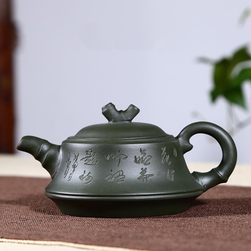 Yixing-إبريق شاي zisha ، غلاية الطين اليدوية ، الطلاء اليدوي ، الكونغ فو ، الطين الأرجواني ، مجموعة أدوات الشرب ، 260 مللي