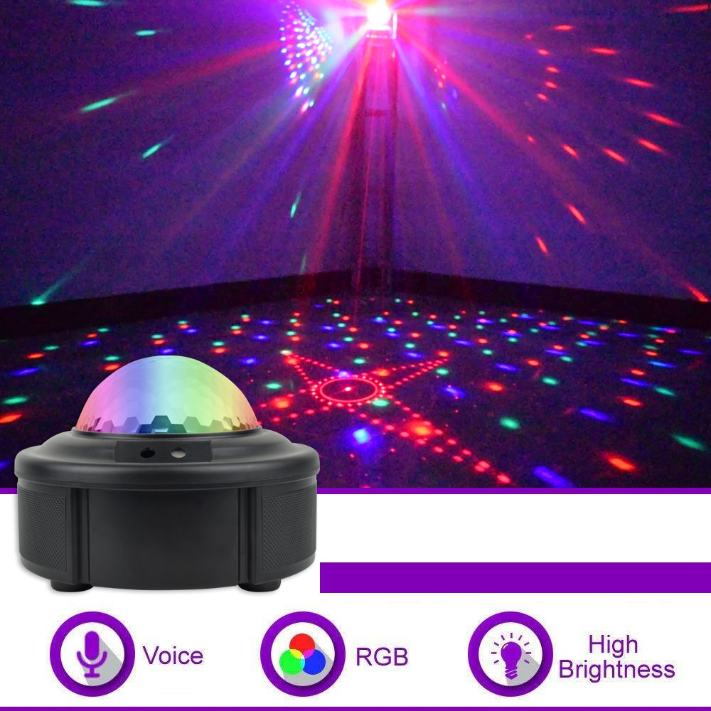 90 Patterns LED Stage Disco Lights RGB MINI DJ Laser Projector Strobe Light Sound Activated Party Ball Lights For Christmas KTV new mini snowfall projector christmas lights outdoor projector ip65 moving head laser snow led stage light for xmas party lights