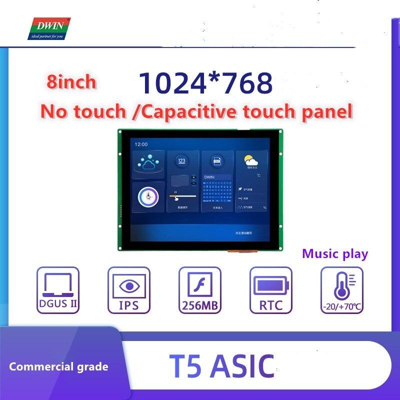 Tela de Toque Polegada Dwin Uart Módulo Lcd Dgus Inteligente Tft Lcm Arduino Painel Toque Plc Ttl Display 8 Hmi 1024*768