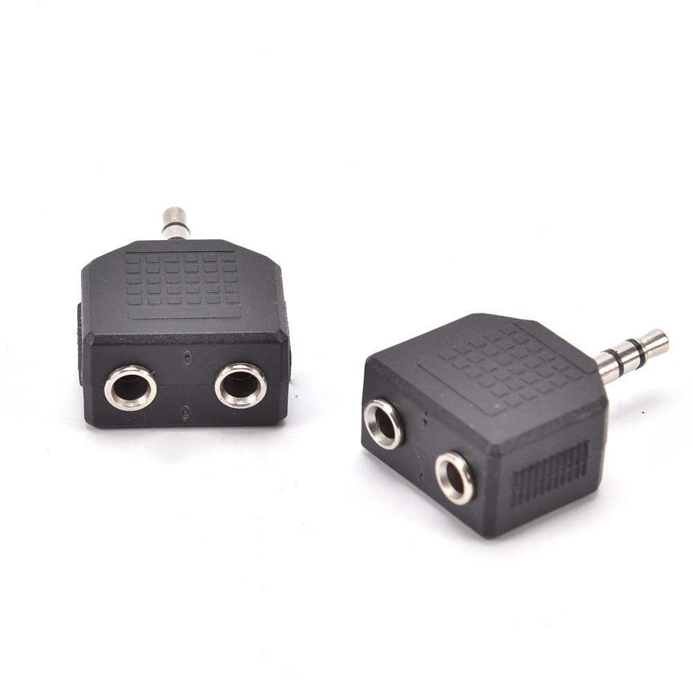 2 unids/lote de Audio para auriculares de 3,5mm conector macho a doble...