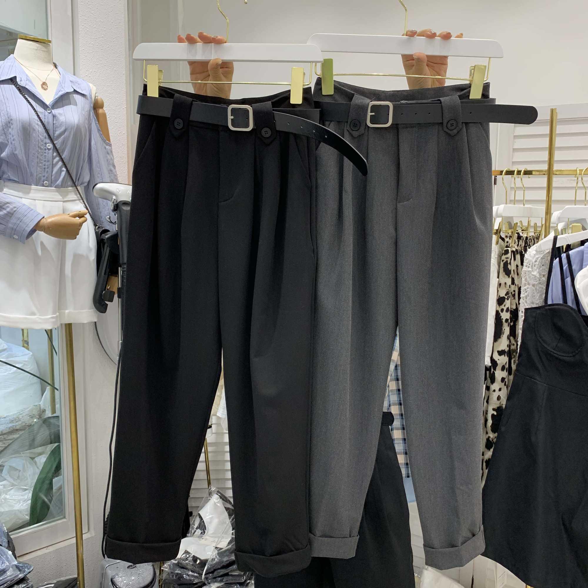 Свежий корейский Dongdaemun изящный и модный Ранняя весна новый модный универсальный Повседневный свободный костюм Папины брюки для женщин