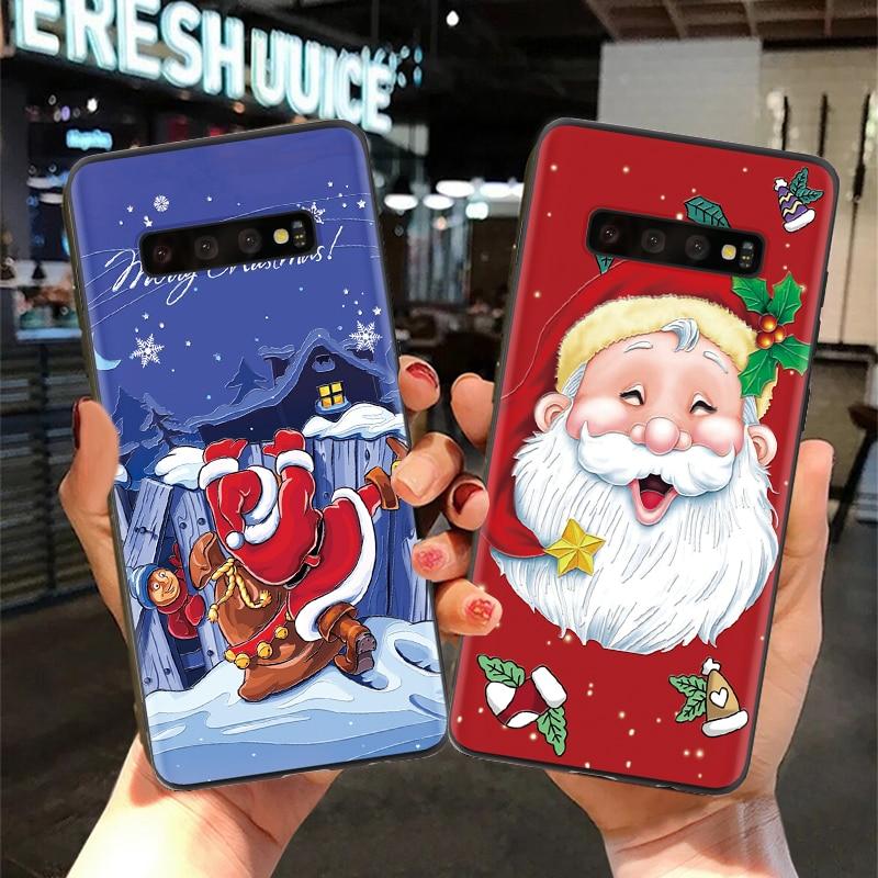 3D alivio para Samsung Galaxy A50 A70 A30 A40 A10 J7 primer A7 2018 S8 S9 más S10 A8 2018 funda S7 Edge TPU Note 9 Feliz Navidad