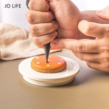 JO LIFE DIY Cookie Turntable Baking Plate Rotating Round Cake Decorating Tools Rotary Table Dessert Tools Mini Cake Stand