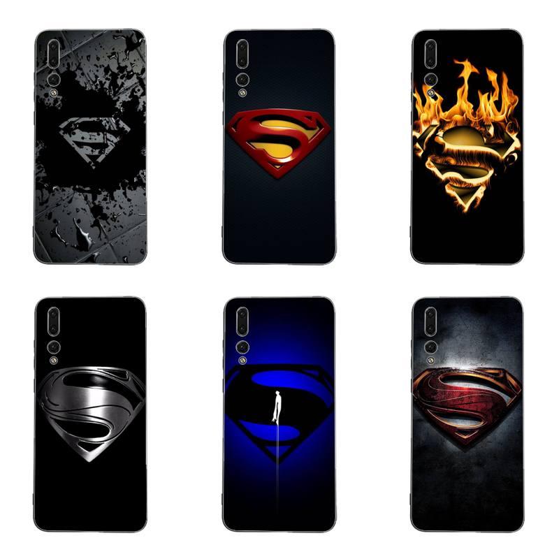 Menino supermans capa de telefone para huawei g7 g8 p7 p8 p9 p10 p20 p30 lite mini pro p inteligente mais preto macio tpu cove fundas