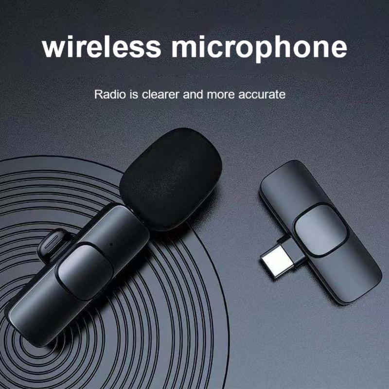 ميكروفون Lavalier لاسلكي جديد لعام 2021 ، ميكروفون محمول لتسجيل الصوت والفيديو لهاتف آيفون وأندرويد ، كاميرا للهاتف المحمول