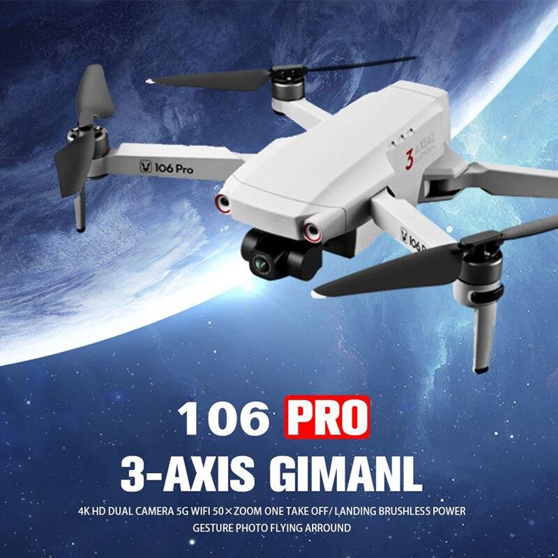 Novo zangão sem escova com câmera 4k 28 minutos de tempo de vôo fpv dron dupla cam gps rc quadcopter