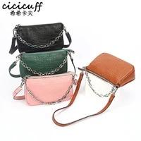 woman hand bag messenger bags mini crocodile genuine leather single shoulder handbag chain french stick underarm shoulder bag