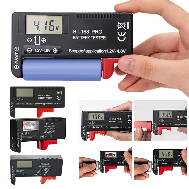 Pantalla Digital de BT-168 de alta precisión, instrumento de medición de batería, probador de capacidad de batería de litio, pantalla analizadora de carga