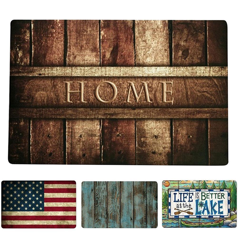 40*60 Welcome letter Print Doormats Indoor Entrance Floor Mat Anti Slip Floor Mats for Living Rooms Bathroom Kitchen Doormat