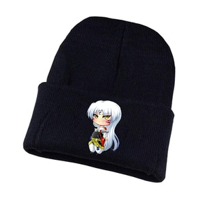 Anime Inuyasha Knitted hat Cosplay hat Unisex Print Adult Casual Cotton hat teenagers winter Knitted Cap