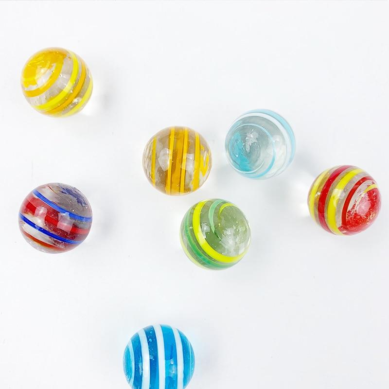 7 шт. 20 мм Стекло мяч крем консоли видео игры пинбол машины крупного рогатого скота маленькие шарики ПЭТ игрушки родитель-машинка для детей б...