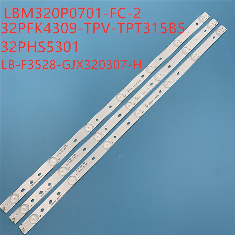 1 juego = 3 uds., 100%, nueva LBM320P0701-FC-2, tiras de retroiluminación LED TPT315B5 LB-F3528-GJX320307-H 32E200E