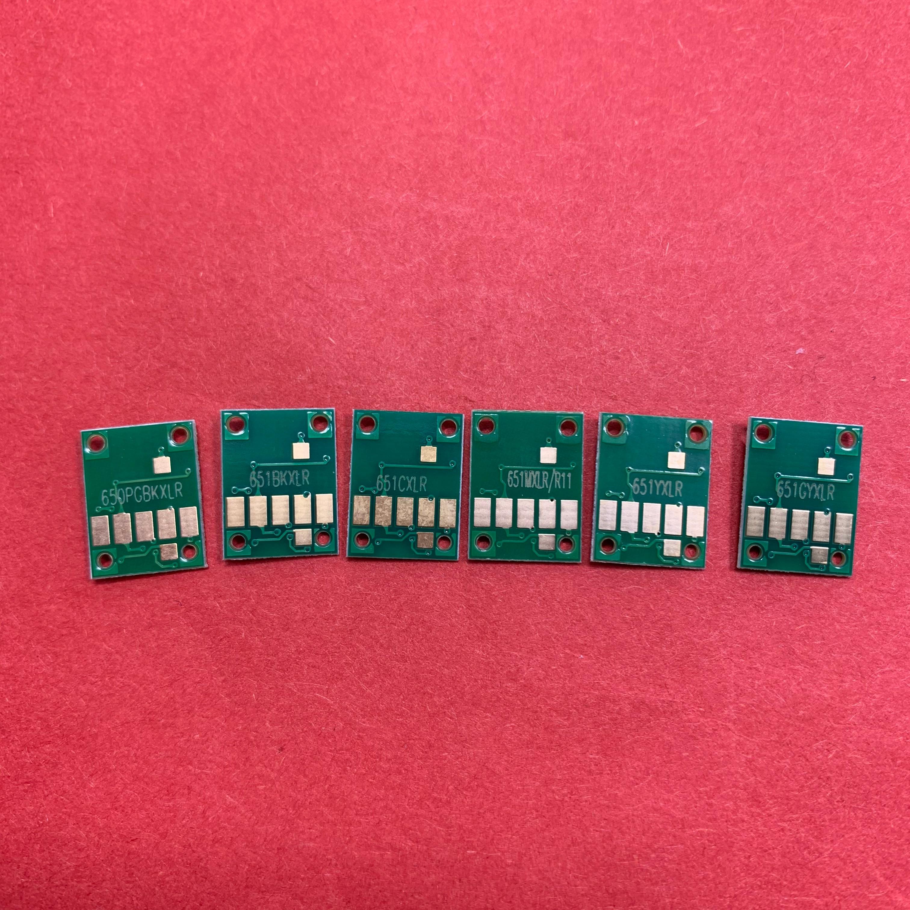 YOTAT 6 uds PGI-650 de chip permanente CLI-651 para impresora Canon PIXMA MG6360