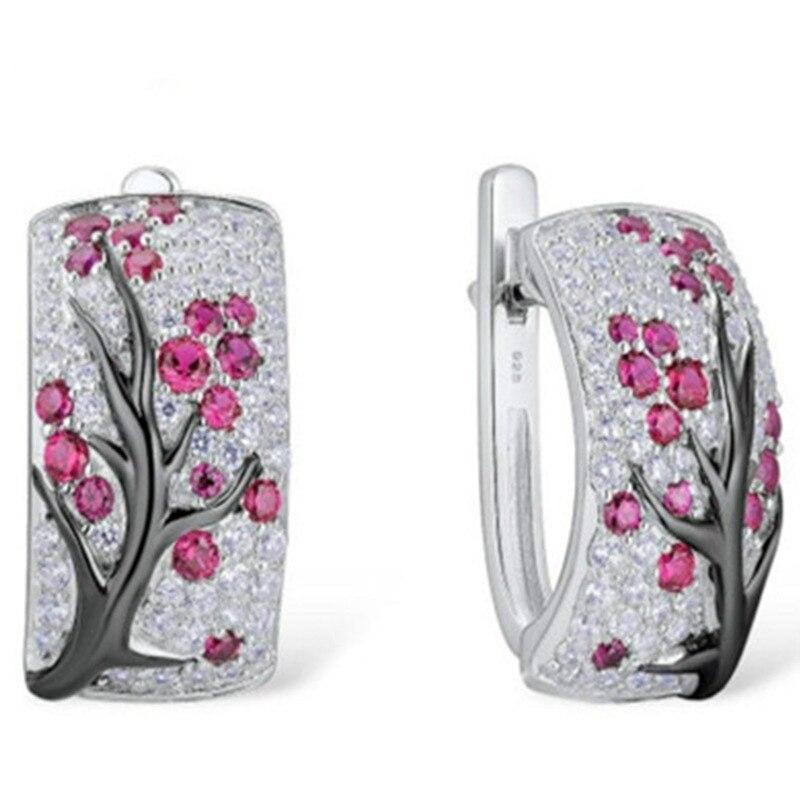 Новые милые модные аксессуары для девочек, ювелирные аксессуары, серьги в виде дерева, серьги для помолвки