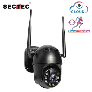 SECTEC 1080P PTZ IP Camera Wireless Auto Tracking Outdoor Waterproof 4X Digital Zoom Speed Dome 1Inch WiFi Security CCTV Camera