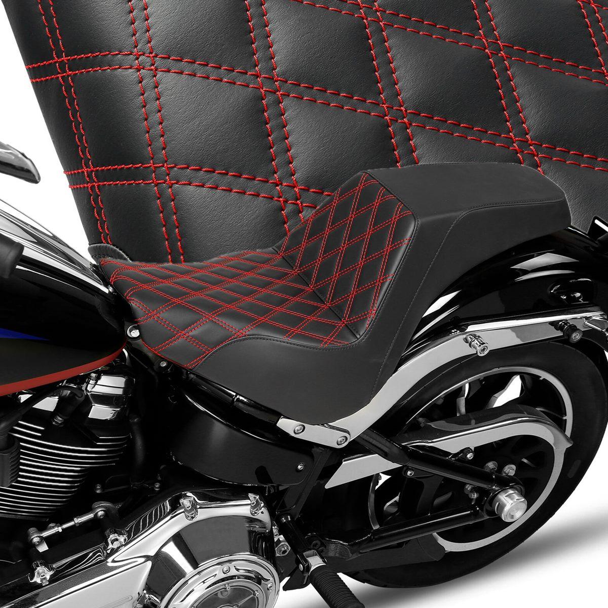 مقعد للدراجة النارية لهارلي سوفتيل ستاندرد ستريت بوب 2018-2020 راكب الدراجة النارية