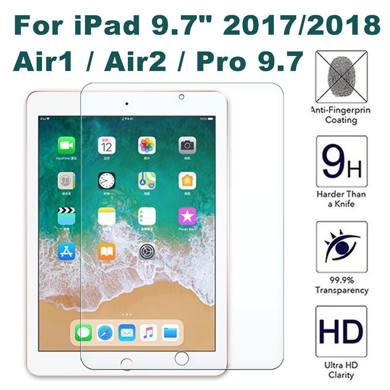 """Screen Protector Für Neue iPad 9,7 """"2017 Gehärtetem Glas Für Neue iPad Pro 9,7"""" 2018 Display-schutzfolie für iPad Air 1 2 Glas"""
