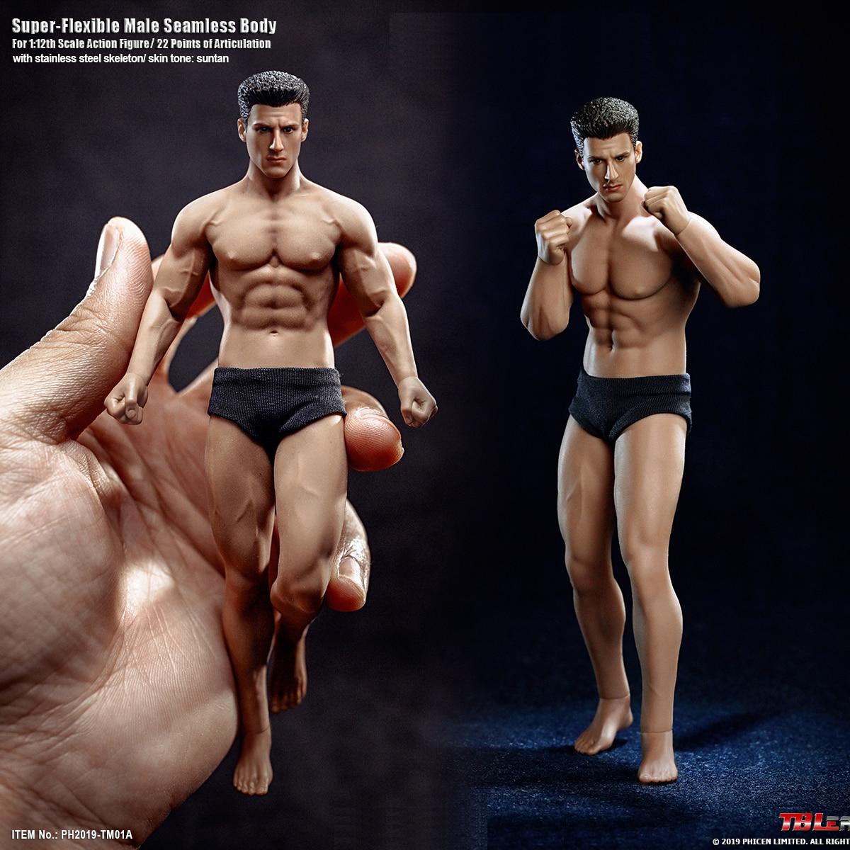 En Stock 15,3 cm/16,3 TBLeague cm/B/1/12 Super Fitness Flexible hombre sin cuerpo cabeza Mini modelo de figura para regalos de Fans