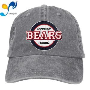Fashion Baseball Cap Print 3D Doosan Bears Logo Hats Men Women Cotton Outdoor Simple Visor Casual Cap