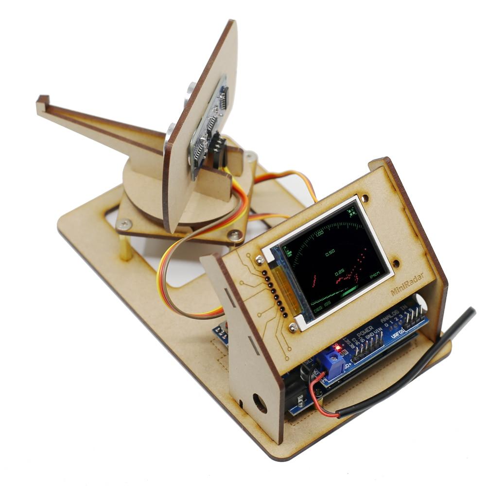 Mini Radar Ultrasonic Radar Maker Open Source Arduino Project Tft Lcd Screen Detection Robot