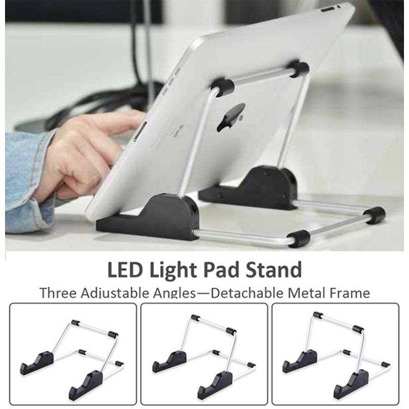 Suporte para a almofada clara, design exclusivo para a tabuleta da placa da almofada clara do diodo emissor de luz a4 da pintura do diamante