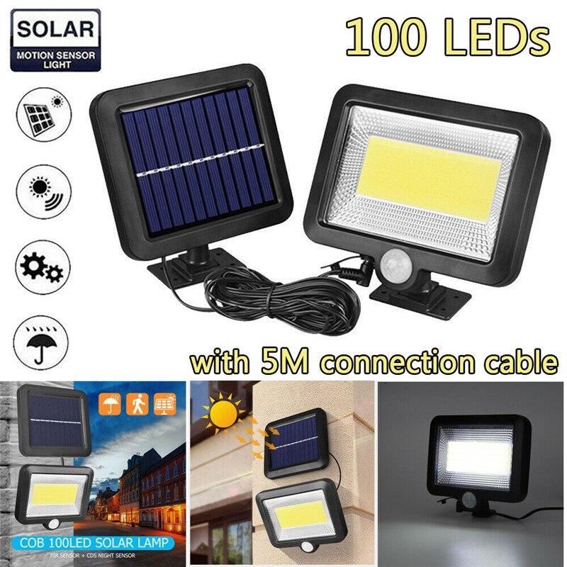 30W 100LED lumière solaire extérieure IP65 étanche à la lumière du soleil pour jardin extérieur sécurité nuit mur fendu lampe solaire livraison directe